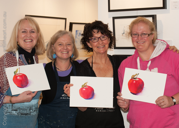 Glowing watercolour apples from Complete Beginners