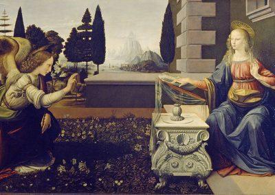 """The Annunciation"" by Leonardo da Vinci"