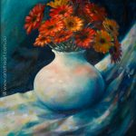 How to Paint in Oil – Gerberas in a Vase