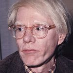 Photograph of Andy Warhol published by Mondadori Publishers