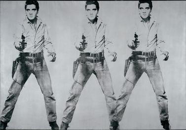 """""""Triple Elvis"""" by Andy Warhol"""