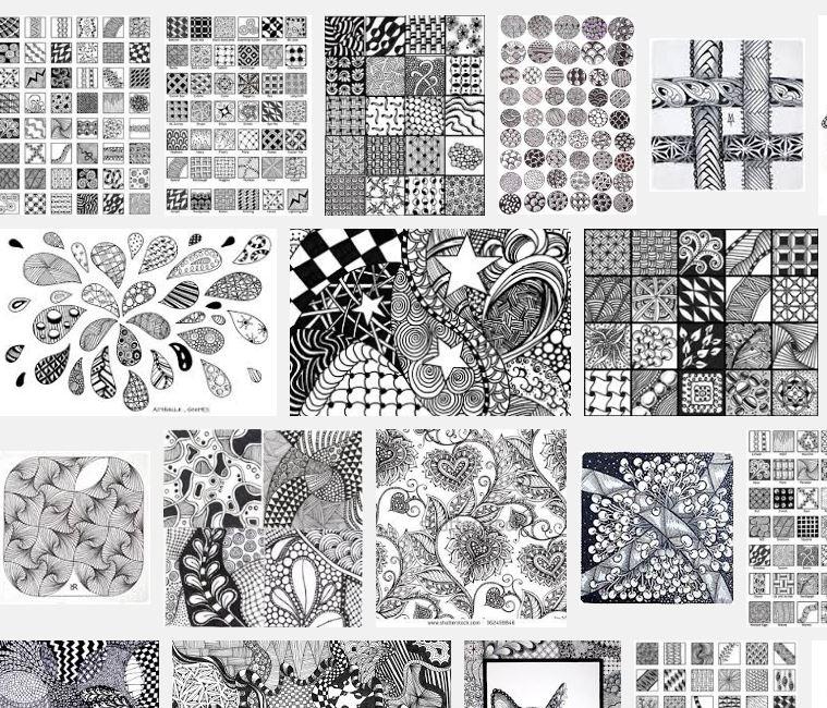 Examples of zentangles