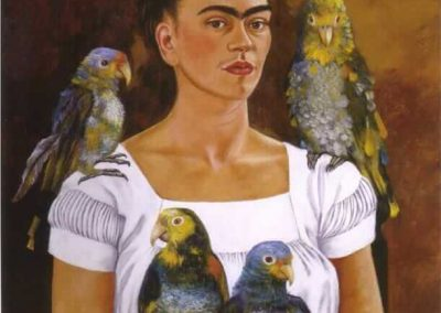 """Me and My Parrot"" by Frida Kahlo"