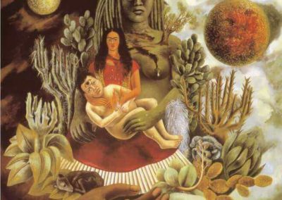 """The Love Embrace of the Universe, the Earth, Mexico, Myself, Diego and Senor Xolotl"" by Frida Kahlo"