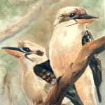 """The Lads"" (Kookaburras) Daily Painting for Jan 9"
