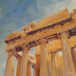 """Parthenon"" Daily painting for 13 Jan 2015."